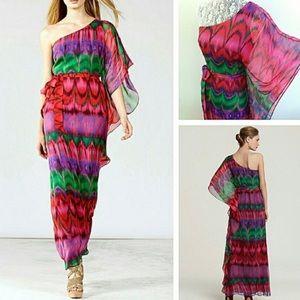 Trina Turk Edita Chiffon One Shoulder Maxi Dress